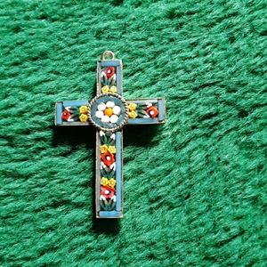 Vintage mosaic cross from Italy